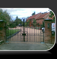 iron electric gate security