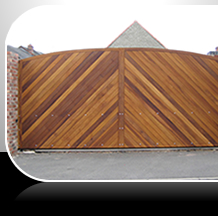 electric wood gate